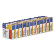 Invisible Tape, 1.9cm x2540cm , 2.5cm Core, 12/PK, Clear