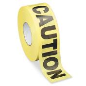 "Barricade Tape, ""Caution"", 7.6cm x1000', Yellow/Black"
