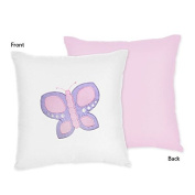 Butterfly Pink and Purple Collection Decorative Pillow