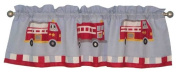 Cotton Fire Truck Valance