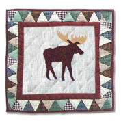 Mountain Whispers Moose Toss Pillow