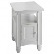 Stein World 679-041 Nantucket Chairside Table, Cottage White Finish