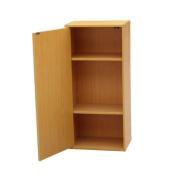 3-Tier Adjustable Book Shelf with Door
