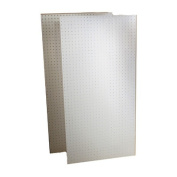 DuraBoard (2) 60cm . W x 120cm . H x 0.6cm . D White Polypropylene Pegboards with 0.7cm . Hole Size and 2.5cm . O.C. Hole Spacing