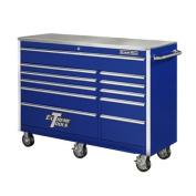 140cm 11 Drawer Professional Roller Cabinet in Blue