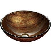 Amber Sunset Vessel Sink in Multicolors