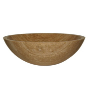 Travertine Stone Vessel Sink Bowl Bathroom Sink