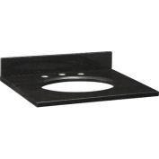 60cm Black Granite Top with Backsplash for Undermount Sink