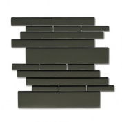 Piano 27cm x 9 1/2 Interlocking Mesh Glass Tile in Melody