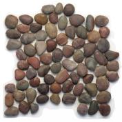 Decorative Pebbles 30cm x 30cm Interlocking Mesh Tile in Honed Agate