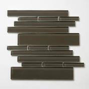 Piano 27cm x 9 1/2 Interlocking Mesh Glass Tile in Rhythm