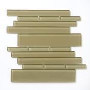 Piano 27cm x 9 1/2 Interlocking Mesh Glass Tile in Sonata