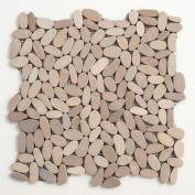 Decorative Pebbles 30cm x 30cm Interlocking Mesh Tile in Madura Sands