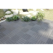 30cm x 30cm Bamboo Composite Deck Tiles in Grey