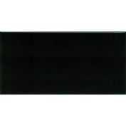 Hand-Painted Ceramic 7.6cm x 15cm Glazed Field Tile in Carbon