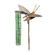 Ancient Graffiti Flamed Copper Butterfly Rain Gauge