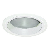 15cm Clear Frosted Reflector with White Baffle