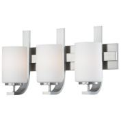 Pendenza Three Light Wall Lamp in Brushed Nickel
