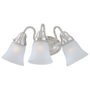 Charlotte Three Light Bath Lamp in Brushed Nickel