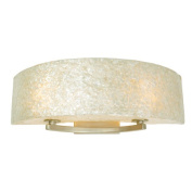 Radius Natural Crushed Capiz Two Light Bath Fixture in Gold Dust