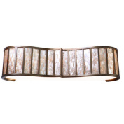 Affinity Sustainable Shell Three Bath Light in New Bronze