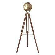Spotlight Brass Colour Lamp Retro Tripod Black Base Lighting Decor 46666
