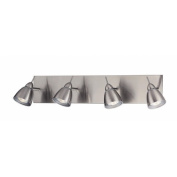 Casara Four Light Wall Lamp in Polished Steel