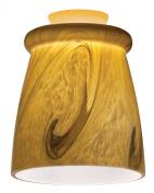 Mini Pendant with Glass Top Rib Shade in Caramel Mocha Swirl