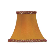 Illusion Bell Clip Chandelier Shade in Gold/Burgundy