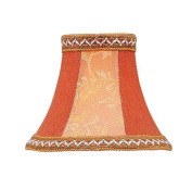 Floral Bell Clip Chandelier Shade with Fancy Trim in Mauve