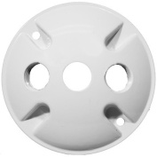 10cm Round Weatherproof Covers in White with 1.3cm Three Hole