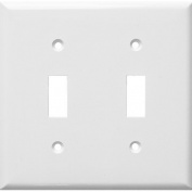 Morris Products 2 Gang Lexan Wall Plates for Toggle Switch in White
