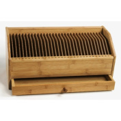 Bamboo Monthly Bill / Invoice Organiser with Drawer