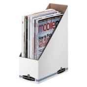 Economy/Storage Magazine File, 9.8cm x23cm x30cm , WhiteBlue