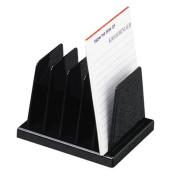 Desk Sorter, Five Compartments, 10cm x13cm x8.9cm , Black