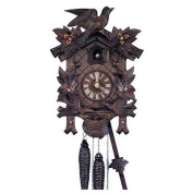 30cm Traditional Cuckoo Clock with Hand Painted Flowers