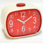 That 21ms Retro Alarm Clock in Cream with Red Face