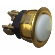 Morris Products Gold Rim Lit Pushbutton in Chrome
