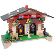 Novelty German Weather House with Deer and Well Design