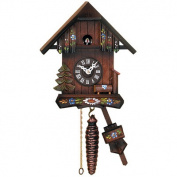 Cottage Quarter Call Cuckoo Clock with Hand-Painted Flowers