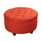 Tufted Round Cocktail Ottoman