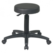 Office Star Backless Drafting Stool, Black