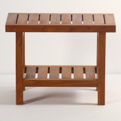 Spa Teak Shower Bench with Shelf