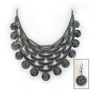 Moneta Necklace and Earrings Ensemble