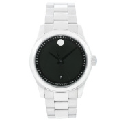 Men's Museum Watch with Stainless Steel Bracelet and Black Dial