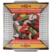 30cm x 30cm Platinum Prestige Stainless Steel Grilling Wok Topper