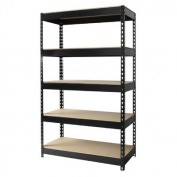 Iron Horse Rivet 150cm H x 90cm W Five Shelf Shelving Unit