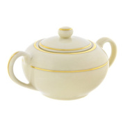 Cream Double Gold 240ml Sugar Bowl with Lid