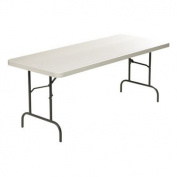 Lorell Ultra-Light Banquet Table, 70cm H x 80cm W x 240cm D, Platinum