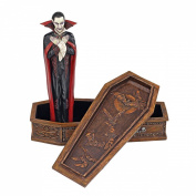 The Vampire Coffin of Dracula Statue